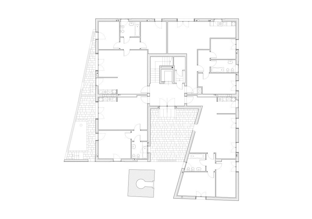 D residential building giudecca island italy apartment for Home construction project plan