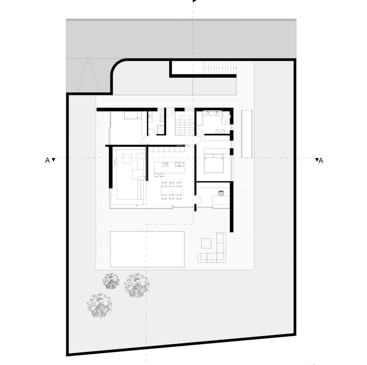 Haus m2 bozen italy detached house for Haus plan