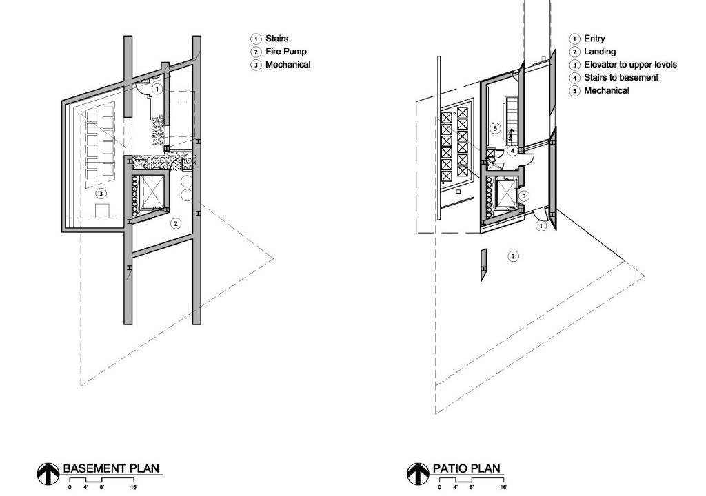 Plans - Basement and Patio