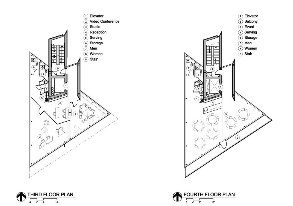 Plans - Third and Fourth Floor