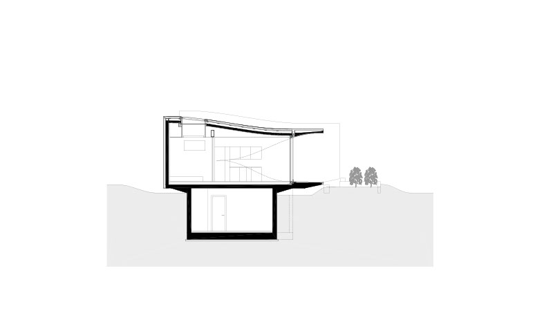 peter pichler architecture mirror houses section AA